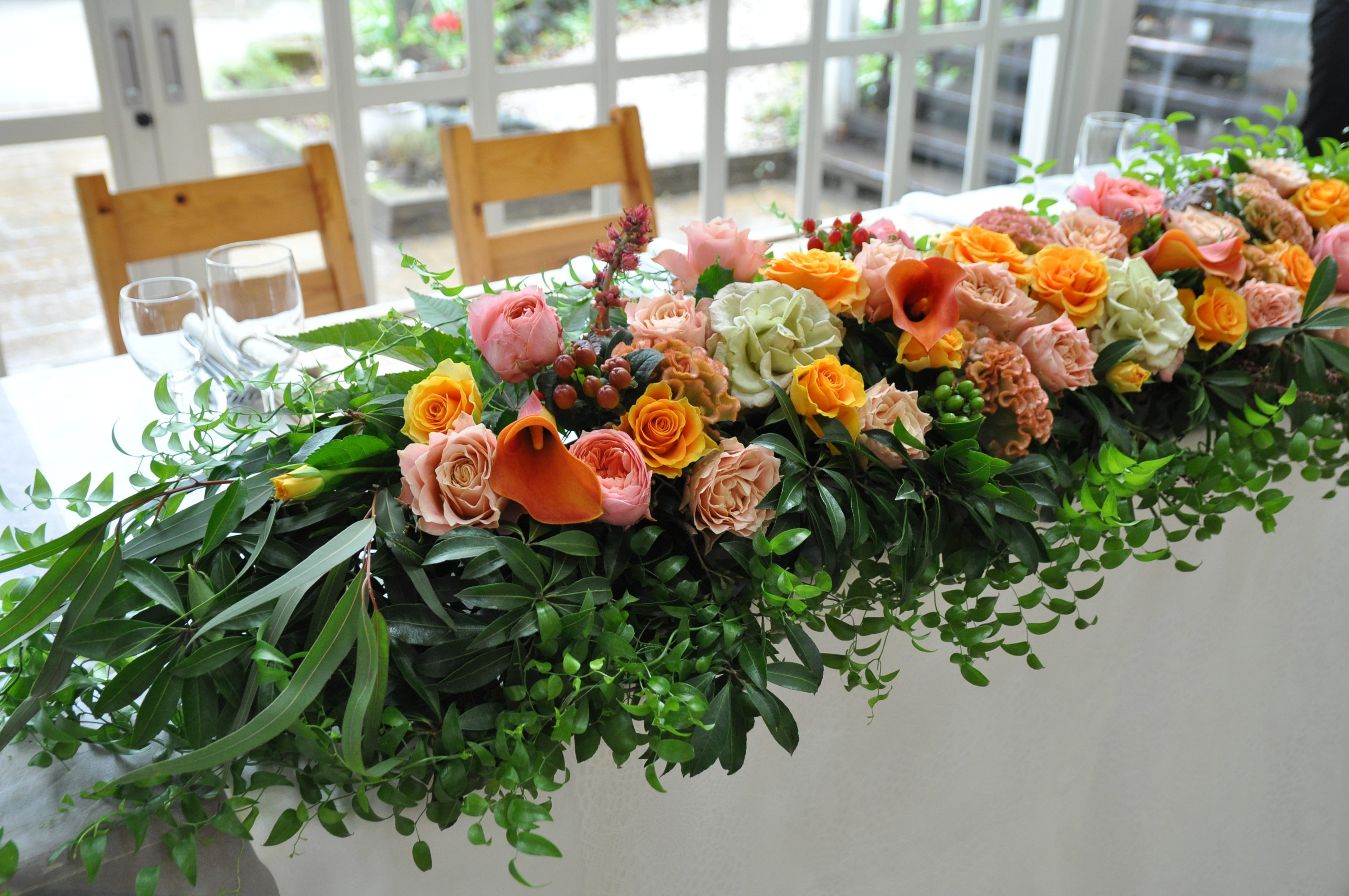 メインテーブル装花.part2